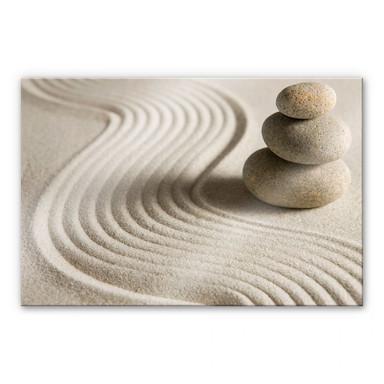 Acrylglasbild XXL Stone in Sand 2