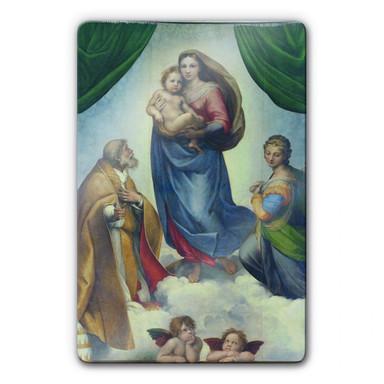 Glasbild Raffael - Die Sixtinische Madonna