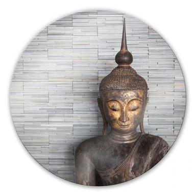 Glasbild Thailand Buddha - rund