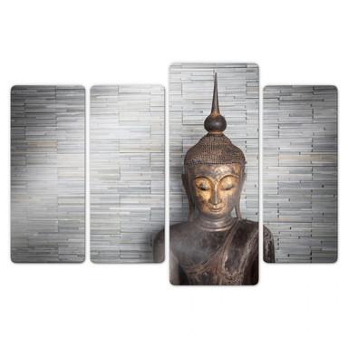 Glasbild Thailand Buddha (4-teilig)