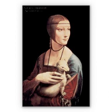 Hartschaumbild Da Vinci - Die Dame mit dem Hermelin
