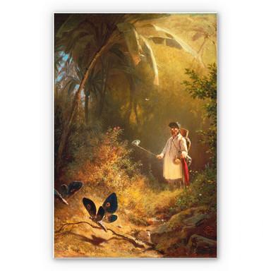 Hartschaumbild Spitzweg - Der Schmetterlingsfänger