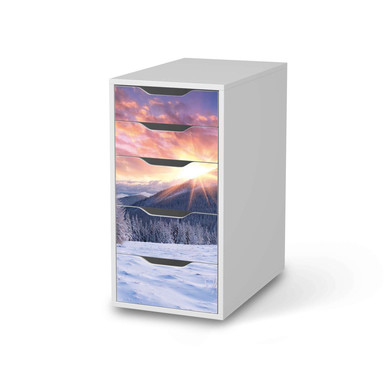 Klebefolie IKEA Alex 5 Schubladen - Zauberhafte Winterlandschaft