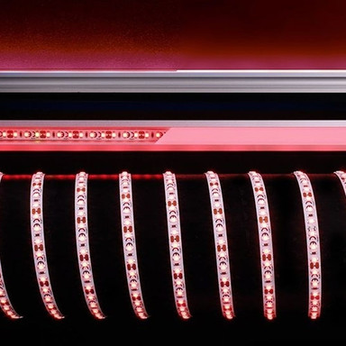 LED Stripe 3528-120-12V-Rot-5M in Weiss 330lm