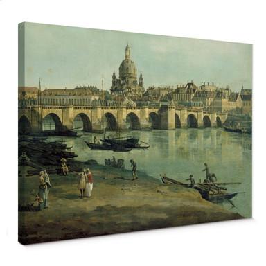 Leinwandbild Canaletto - Dresden vom rechten Elbufer