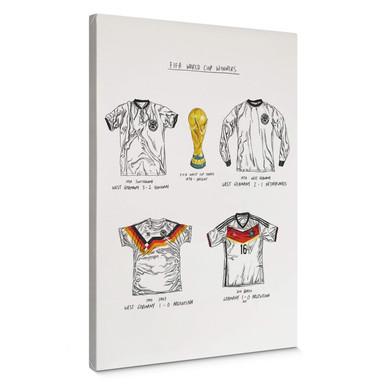 Leinwandbild Sparshott - Fussballtrikots Deutschland