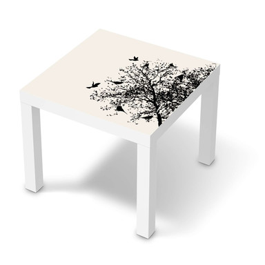 Möbelfolie IKEA Lack Tisch 55x55cm - Tree and Birds 2