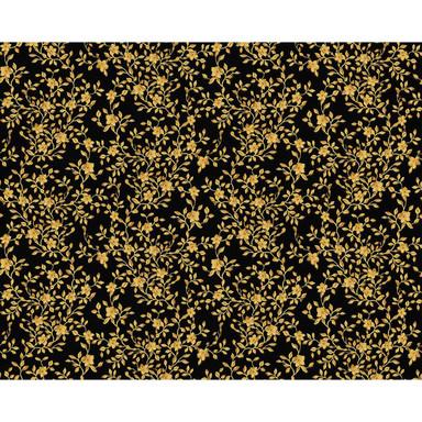 Mustertapeten Versace Wallpaper Tapete Barocco Flowers Metallic, Schwarz