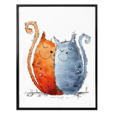 Poster Hagenmeyer - Verliebte Katzen