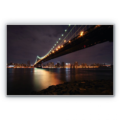 Wandbild Manhattan Bridge at Night