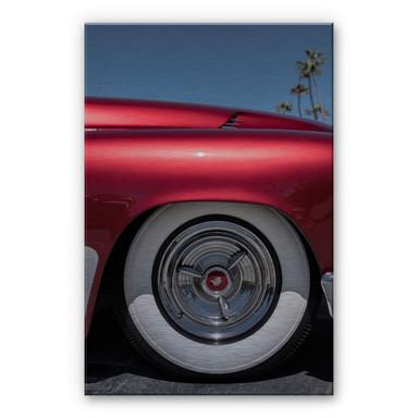 Alu-Dibond Bild mit Silbereffekt Ochlich - Red Oldtimer