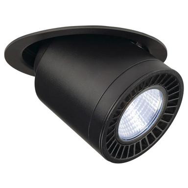 Ausziehbarer LED Einbaustrahler Supros, schwenkbar, drehbar, 3000 Lumen, schwarz