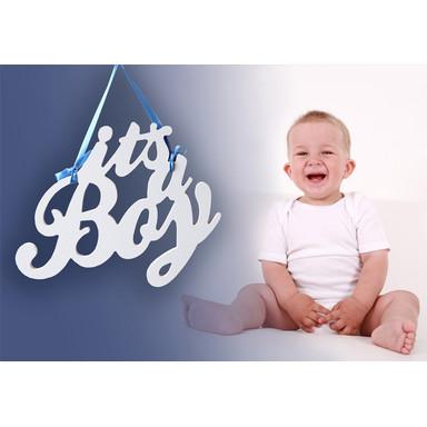 Dekobuchstaben 3D-Anhänger -It's a Boy-