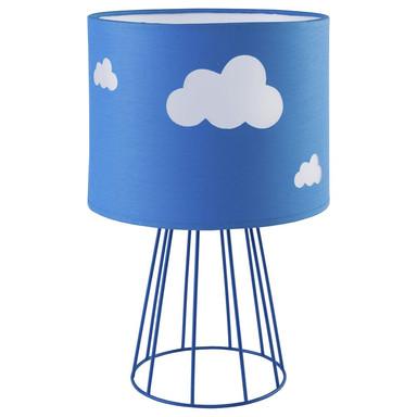 famlights | Kinderzimmer Tischleuchte Mike in Blau mit Wolken 1xE27