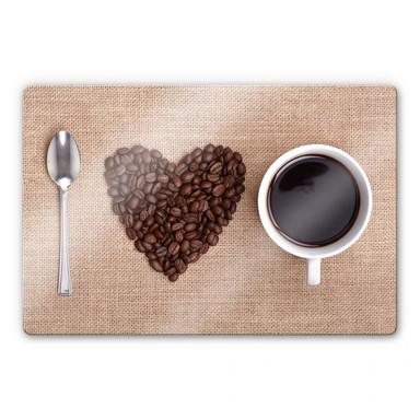Glasbild I love Coffee