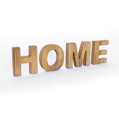 Holz Dekobuchstaben zum Hinstellen - Home