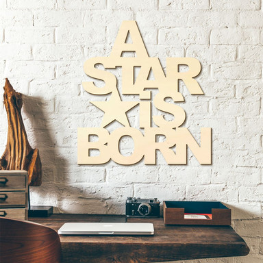 Holzbuchstaben A Star is born