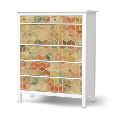 Klebefolie IKEA Hemnes Kommode 6 Schubladen - 3D Retro- Bild 1
