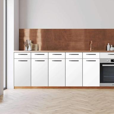 Küchenfolie - Unterschrank 200cm Breite - Weiss
