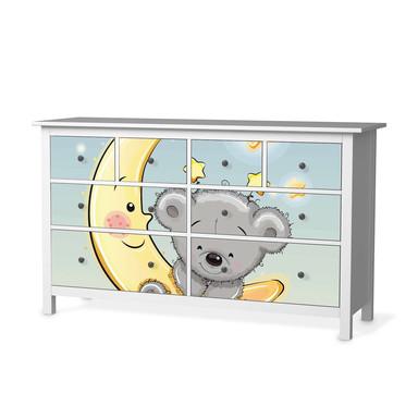 Möbelfolie IKEA Hemnes Kommode 8 Schubladen - Teddy und Mond