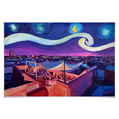 Poster Bleichner - Marrakesch bei Nacht