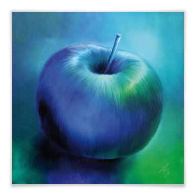 Poster Schmucker - Blauer Apfel