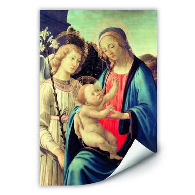 Wallprint Botticelli - Madonna mit Kind und einem Engel