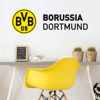 Wandsticker BVB Schriftzug mit Logo