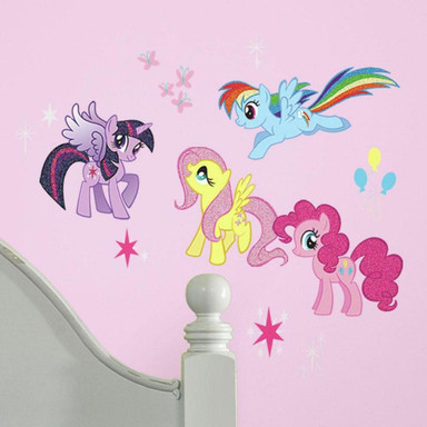 Wandsticker-Set My little Pony mit Glitter 31-teilig - Bild 1