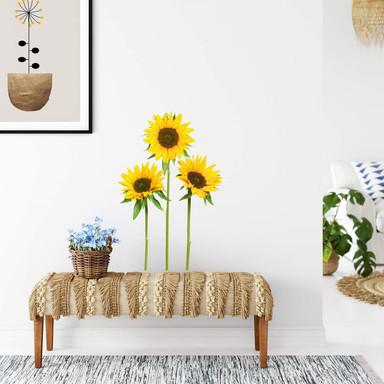 Wandsticker Sonnenblumen