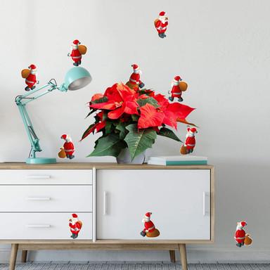 Wandsticker Weihnachtsmann Bundle