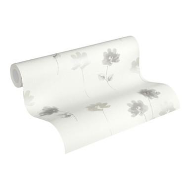 Vliestapete Premium Wall Tapete floral creme, grau