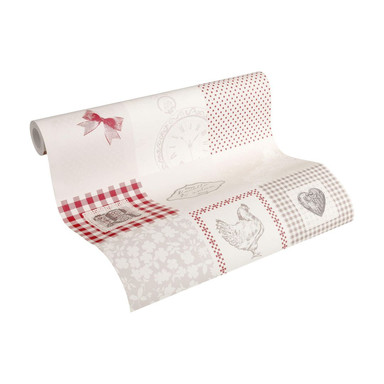A.S. Création Tapete Kitchen Dreams beige, grau, rot