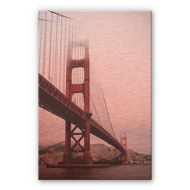 Alu-Dibond-Kupfereffekt - The Golden Gate Bridge 02