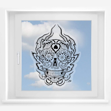 Fensterbild Miami Ink Mexikanische Totenmaske 1