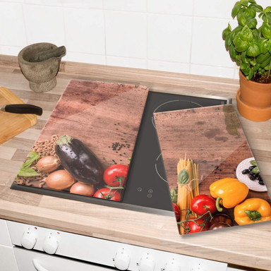 Herdabdeckplatte - Frisches Gemüse 03