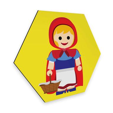 Hexagon - Alu-Dibond Gomes - Rotkäppchen Spielzeug