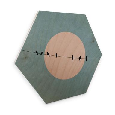 Hexagon - Holz Birke-Furnier - Kubistika - Die Schönheit der Stille