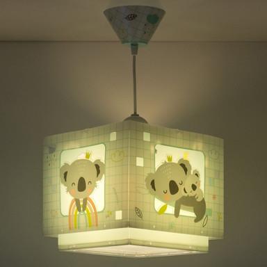 Kinderzimmer Pendelleuchte Koala in Grün E27