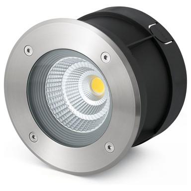 LED Bodeneinbaustrahler Suria aus Edelstahl in Silber belastbar bis 1T 180 mm