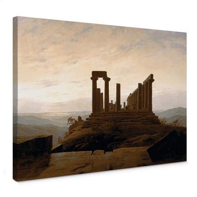Leinwandbild Friedrich - Der Junotempel in Agrigent