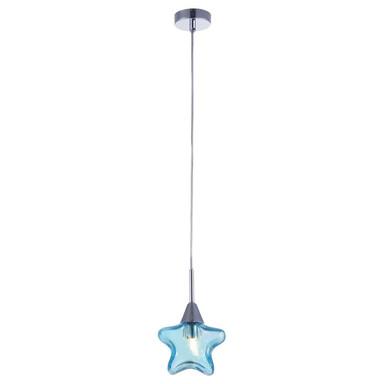 Pendelleuchte Star mit sternförmigem Schirm 140mm blau