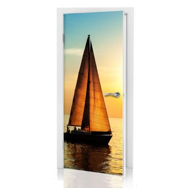 Türdeko Segelboot im Sonnenuntergang - Bild 1