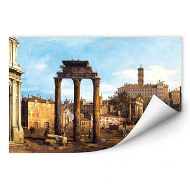 Wallprint Canaletto - Forum mit Tempel von Kastor und Pollux