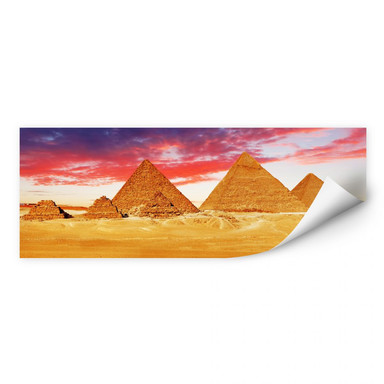 Wallprint Die Pyramiden von Gizeh - Panorama