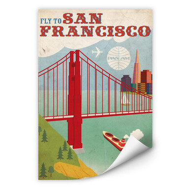 Wallprint PAN AM - Fly to San Francisco