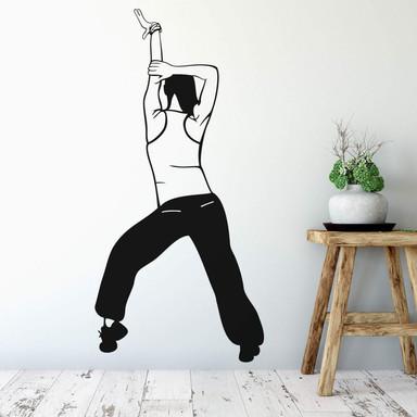 Wandtattoo Tänzerin