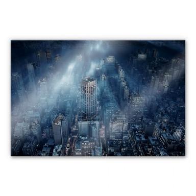 Acrylglasbild Løndal - Nebel in NYC
