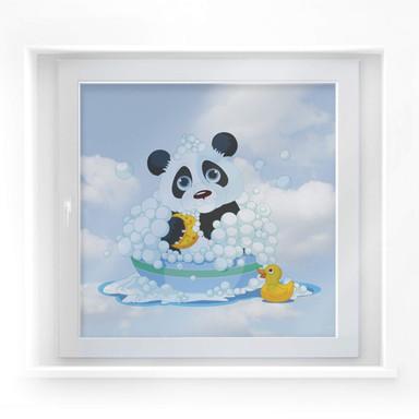 Fensterdekor Badender Panda