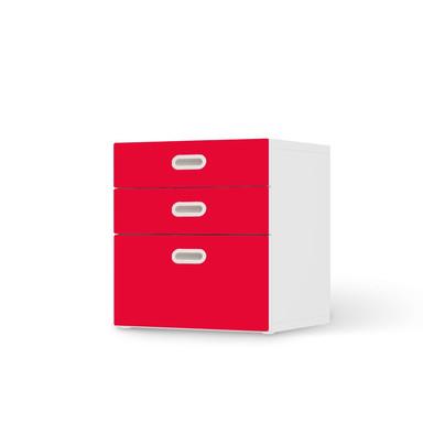 Folie IKEA Stuva / Fritids Kommode - 3 Schubladen - Rot Light- Bild 1